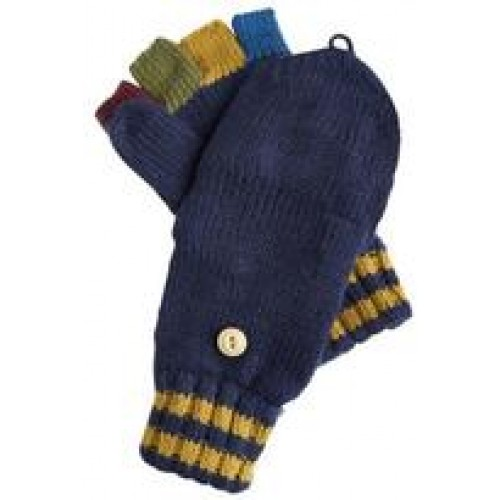 Glittens - Joules  Boys Contrast Fingers, Navy  - S/M size
