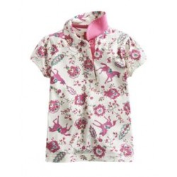 Top - Joules Girls -  Creme Floral Horse - Lena 5, 6y SALE