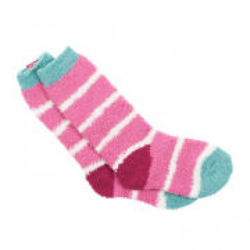 Socks - Joules -  Fluffy girls - Pink in SALE - shoe 9-12 and 13-1