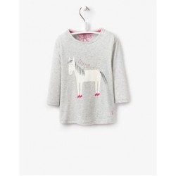 Top - Joules Girls Bessie - Grey horse 3-4 sale