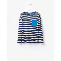 Top - Joules Boys - Oscar - Navy stripe - 5-6,y