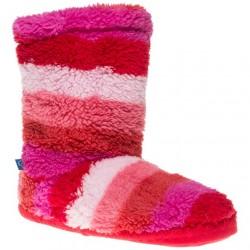 Slippers - JOULES Girls  Fluffy - Warm Pink -  11-13  (medium ) - sale