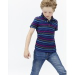 Top - Joules Boys Polo Shirt, French NavyMulti Stripe -  5-6y SALE