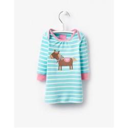Dress - Joules Baby Kaye Aqua - 18-24m  - last one in sale