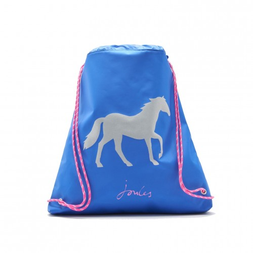 Bag - Joules - Girls - Active  Drawstring Bag - Silver Sparkly Horse - sale