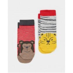 Socks - Joules Baby - monkey - 0-6m - sale