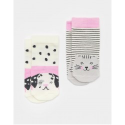 Socks - Joules Baby Dog - pink - 6-12m - sale