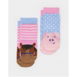Socks - Joules Baby Horse  - 0-6 1x, 1-2y 6x