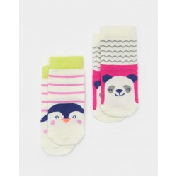 Socks - Joules Baby Panda - 0-6m - last one -  sale