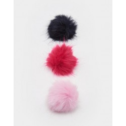 Clips - Joules -CLARET POM POM 3 PACK