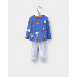Set - Joules Baby Toby - DAZZLING BLUE MONKEY 6-9 , 9-12, 12-18, 18-24m SALE