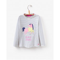 Top - Joules Girls AVA - Stripe horse 3-4,  7-8
