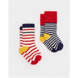 Socks - Joules Towelling Terry - red 0-6, 6-12m
