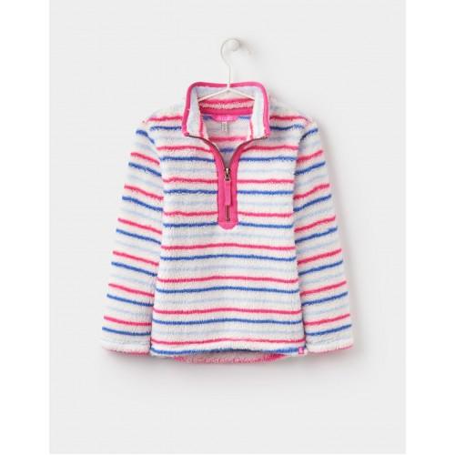 Fleece - Joules Girls Merridie - Multistripe 5-6 7-8 - sale