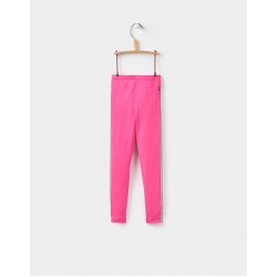 Leggings - Joules Girls Glitzy in fuchsia pink 3-4y - sale
