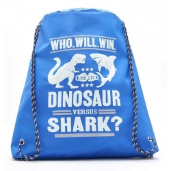 Bag - Joules Dinosaur v Shark Jnractive Drawstring Bag
