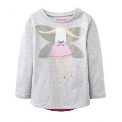 Top - Joules Baby girls AVA  silver fairy- 9-12m SALE