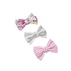 Hair - Girls Joules Bow - Cream Ditsy