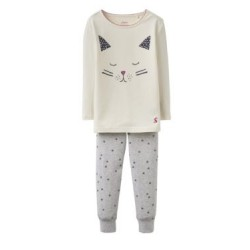 PJ - Joules Girls SLEEPWELL Creme Cat 5-6y