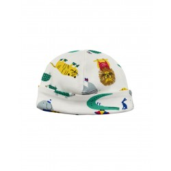 Hat - Joules Baby  - Cream Zoo 0-3, 3-6m