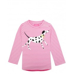 Top - Joules Baby Ava in Bon Bon Dog 6-9, 9-12m - sale