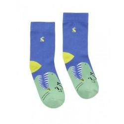 Socks - Joules Boys Eat Feet Character Socks - Dino - shoe -13-1 (3x)