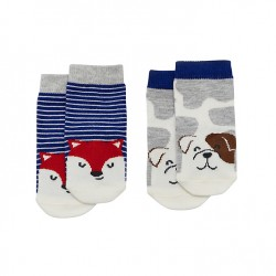 Socks - Joules  DOG Socks, Pack of 2 - 0-6, 6-12m