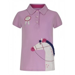 Top - Joules Girls Moxie - pink horse 5-6, 7-8y - SALE