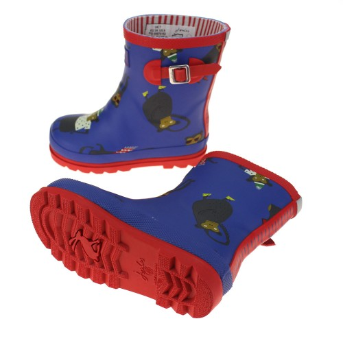 Boots - Joules  - Welly Boots - Boys in  Blue Monkey - shoe size 1  - sale