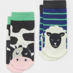 Socks - Joules Baby  - Cow - 0-6m in sale
