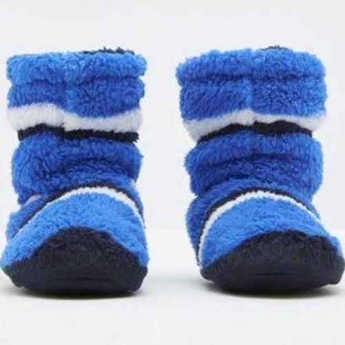 Slippers - Joules Boys PAD ABOUT SLIPPERS - dazzling blue stripe - small  8- 10 size  - sale