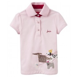 Top - Joules Girls Moxie - Rose Pink Hipster Dog - 3, 4, 5, 6y - sale