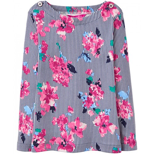 Top -  Joules Girls Harbour Top, stripe floral - 5y and  6y - sale