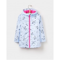Coat - Joules RAINDANCE WATERPROOF RUBBER COAT  - sky blue stripe - 1, 2, 3, 4, 5y - sale