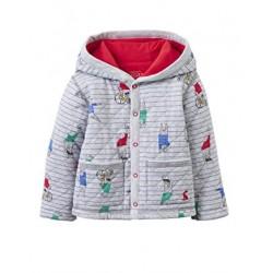 Sweatshirt - Joules Baby - Grey Bear Stripe 0-3, 9-12m