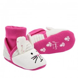 Slippers - Joules Baby Slippers - Bunny - Size 0-6m , 6-12, 12-18m