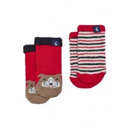 Socks - Joules Baby Terry - 2 Pack - DOG - 0-6, 6-12, 1-2y, 2-3y
