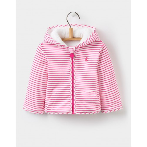 Fleece - Joules Baby COSETTE REVERSIBLE FLEECE - True Pink Stripe  - 18-24m sale