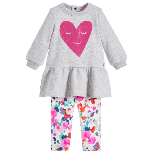 Set - JOULES - Baby Girls 'Sylvie' - heart -  9-12m - sale
