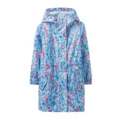 Raincoat - Joules Kids Go lightly - Sky Dog Blue - 3, 4, 5, y