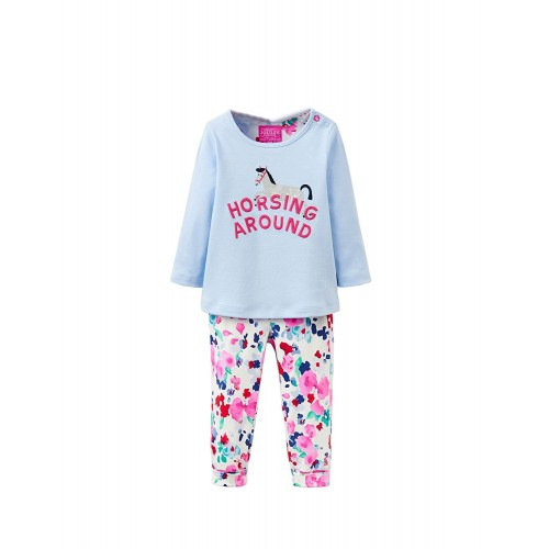 Set - Joules - Poppy - Sky Blue Horse - 12-18m - last one now in  sale