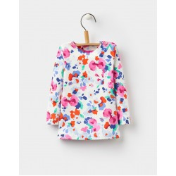 Top - Joules Baby Tabitha Harbour - Floral Creme 0-3, 3-6,18-24m