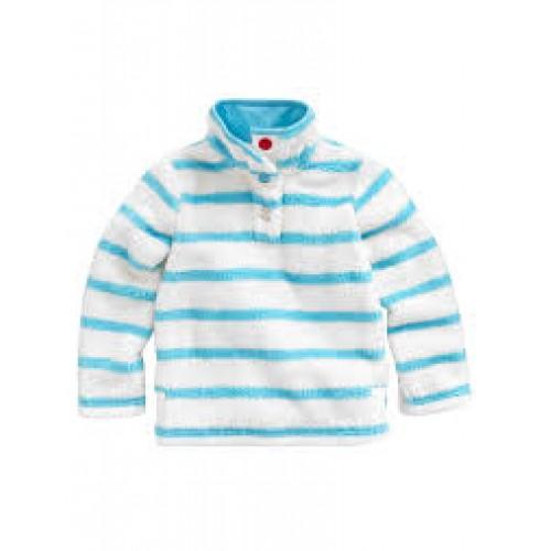 Fleece -  Joules turquoise stripe -  3,4,y - SALE