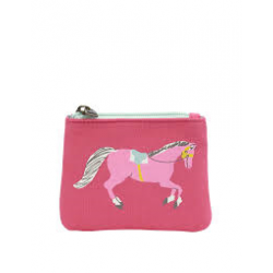 Purse -  Joules - Girls Purse, Candy Pink Pony Print