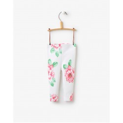 Leggings - Joules Baby Dee Bright White Flower 6-12, 9-12, 12-18m, SALE