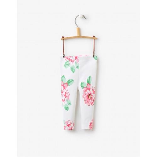 Leggings - Joules Baby Dee Bright White Flower 6-12, 9-12, 12-18m, SALE