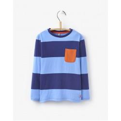 Top - Joules Boys - Oscar - true blue stripe