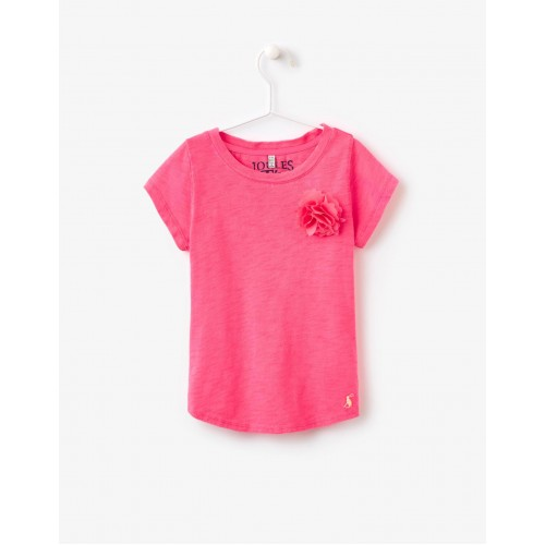 Top - Joules Corita Girls neon candy - 9-10