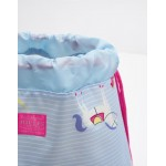 Bag - Joules Girls Drawstring bag - Sky Blue Horse