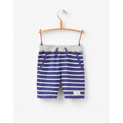 Shorts - Joules Boys - Bucaneer in Blueprint stripe 5-6, 7-8y